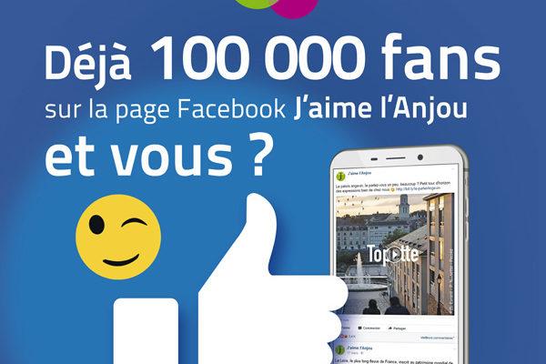 100 000 fans Facebook J'aime l'Anjou